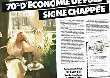 Publicité Advertising 018  1982  pompes à chaleur fuel Chappée  (2pages)