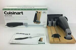 Cuisinart CEK-40 Electric Knife 2 Blades & Butcher Block Storage Stand