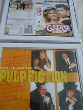 2 Framed 10by8 Vhs sleeve cover John travolta Pulp fiction & Grease