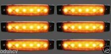 6 Stk x 24V 6 LED Seitenblinker orange bernstein Blinker Lichter