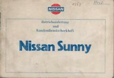 NISSAN SUNNY Betriebsanleitung 1983 B11 Bedienungsanleitung Handbuch Bordbuch BA