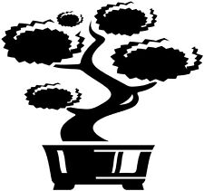 "12"" BONSAI LITTLE TREE ASIAN DECOR WALL ART VINYL DECAL STICKER #4"