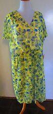 NEW! Alex Marie $139 size 24W womens plus size dress yellow green blue lined