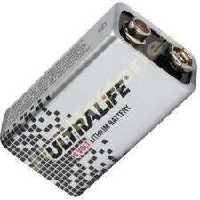 7 x LITHIUM 9V BATTERIES ULTRALIFE PP3 MN1604 BLOCK 9 volt smoke alarm
