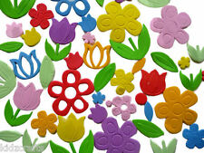 Flower Foam Shapes Daisies Tulips Self Adhesive Approx 50 PCS