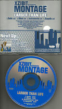 XZIBIT MONTAGE Larger than Life RADIO & ACAPELA & INSTRUMENTAL PROMO CD single