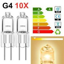 10PCS G4 Halogen Capsule Bulbs Light Replace 10W 20W AC 12V 2 Pin Lamps