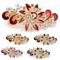 Fermaglio Flower accessori capelli clip strass acconciatura fermacapelli fiore