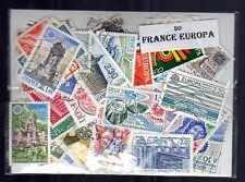 France Europa 50 timbres différents oblitérés