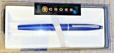 CROSS CALAIS FOUNTAIN PEN -Matte Blue with Silver Trim- *NEW*