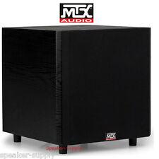 "MTX TSW10 10"" Powered Home Theater Subwoofer 150 Watt Amp Line Down Firing Sub"
