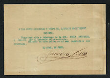 MEXICO: AUTOGRAPH OF PANCHO VILLA HANDSIGNED DOCUMENT(War Safe-conduct)