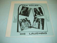 """VAN HALEN Die Laughing Live 1977 12"""" vinyl LP Bootleg NOT TMOQ Private Press"""