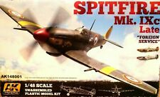 """AK Interactive 1:48 Spitfire Mk.IXc Late """"Foreign Service"""" Aircraft Model Kit"""