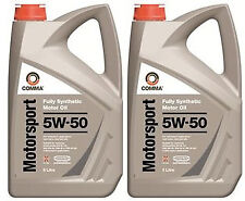 2X COMMA MOTORSPORT 5W-50 FULLY SYNTHETIC ENGINE OIL - MS5L - 5 LITRE ACE A3/B3
