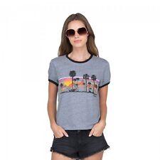NWT VOLCOM Women 2017 River Party Tee Shirt Small Womens Heather Gray jd113