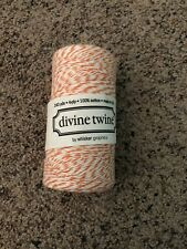 Divine Twine Orange and White By Whisker Graphics 240 Yards 4 ply 100% Cotton