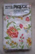 Nos Pequot Kein Eisen Luxus Musselin 2 Standard Blumen Kissenbezüge Mid Century