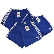 VINTAGE Adidas Shorts Gr D8 Made Yugoslavia Sprinter Slip Blau Baumwolle Cotton