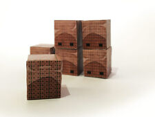 12 RED BRICK PALLET LOADS FOR OO GAUGE 1:76 SCALE MODEL RAILWAY DIECAST AX030-OO