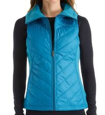 Columbia Womens Mix It Around Quilted Micro-fiber Vest  Deep Marine Blue Size M