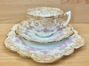 """Paragon Star China """"Swags"""" Pattern 1537 Tea Cup Trio C.1904."""