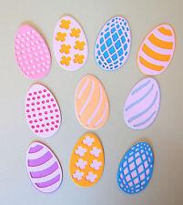 Easter Egg Eggs Paper Die Cut Embellishments scrapbooking 10 pc card making