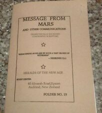 Message From Mars #19,Esoteric,Occult,Mystery,Metaphysical,Channeling,AMORC