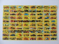 Matchbox Lesney Poster repro Type G Series models
