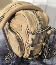 Alexander Wang Brenda Shoulder HandBag Cross Body Light Tan EUC