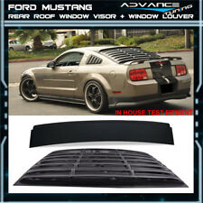 For 05-14 Mustang GT V6 V8 Rear Window Roof Visor Spoiler PUR + Window Louver