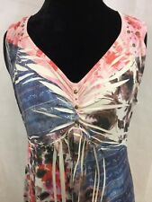 Style&Co. Multi-Color Polyester / Spandex Sleeveess Tunic Top Size XL RN#119794