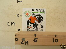 STICKER,DECAL KNVB AFD LIMBURG JEUGD AKTIE POLIO VOETBAL SOCCER A