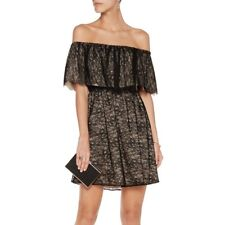 NWT Alice And Olivia Suzy Black Lace Off The Shoulder Dress small MSP $440