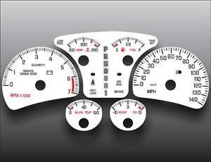 2000-2005 Pontiac Bonneville SSEi Dash Instrument Cluster White Face Gauges