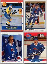 1990-91 MATS SUNDIN 4 ROOKIE RC HOCKEY CARD LOT Upper Deck Score OPC Premier BV
