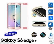 Samsung Galaxy S6 Plus 3D Curvo Rose templado Edge Vidrio Protector de Pantalla LCD