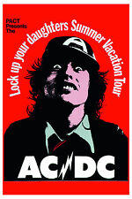 AC/DC  Lock Up Your Daughters Summer Vacation Concert Tour  Poster 1976 12x18