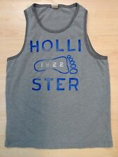 graues Hollister (Abercrombie & Fitch) Tank Top Trägershirt Muscle-Muskel Shirt
