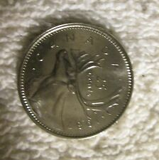 1987 Canadian 25 cents - Proof Like - Brilliant Uncirculated roll