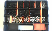 Assorted Nut & bolt kit with case 181 pieces! M6,M8,M10 SHC, Flanged nylocs