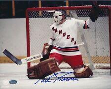 Eddie Giacomin Rangers Signed 8x10 Photo Autograph Auto Mounted Memories