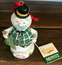 1999 Midwest of Cannon Falls Rudolph Sam the Snowman Ornament
