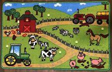 KIDS FARM NON SLIP NEW MATS/RUGS SCHOOL/HOME 50CMX80CM BARGAINS WASHABLE