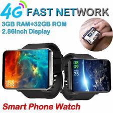 "4G 2.86"" Big Screen Smart Watch Phone Android 7.1 3GB + 32GB 5MP Camera DM100"