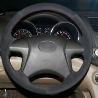 Black Leather Hand-stitched Car Steering Wheel Cover for Toyota Camry 2007-2011