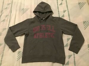 Russell Athletic Women's Hoodie UK 12 or Large Grey Good Ready To Wear Condition