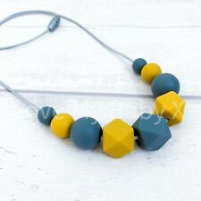Mustard Grey|Nursing Necklace| Sensory Necklace|Teething Necklace |New Baby Gift