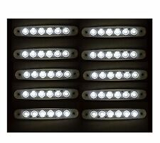 10X24V LED 6SMD WHITE SIDE MARKER LIGHTS FOR SCANIA IVECO DAF MAN VOLVO MERCEDES