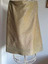 Vintage Elida of London Lined Gold Skirt  Size 10